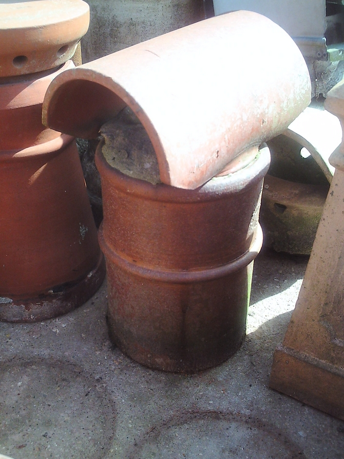 Glazed Chimney Pot with Hood