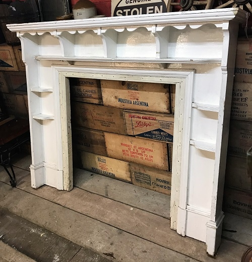 Original White Painted Wooden Fire Surround SOLD