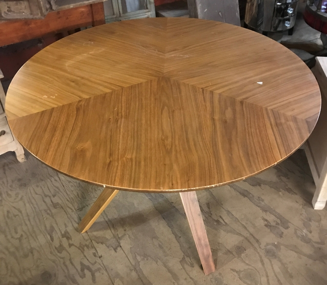 Reclaimed Round Walnut Table SOLD