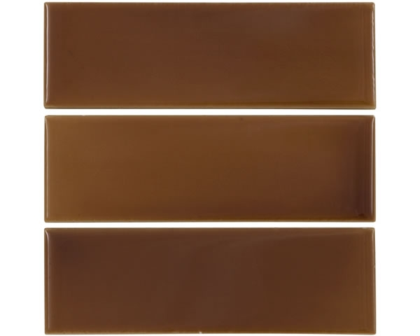 Set of 6 1/3 Light Brown Tiles