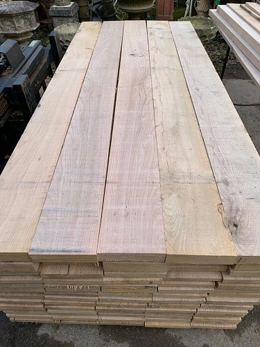 New Green Oak Planks 2.4m x 200 x 50mm