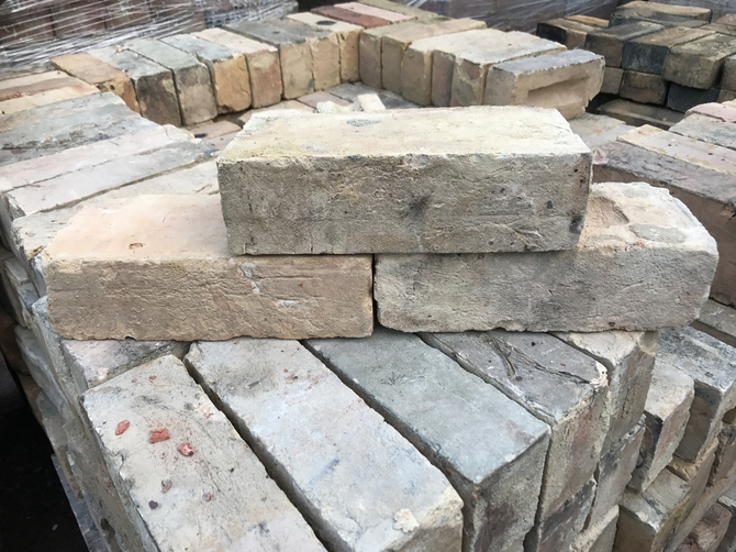 Reclaimed Imperial Buff Bricks 228 x 102 x 70mm