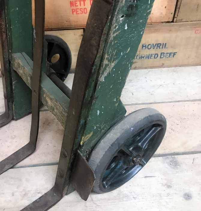 Reclaimed Vintage Wooden Sack Truck