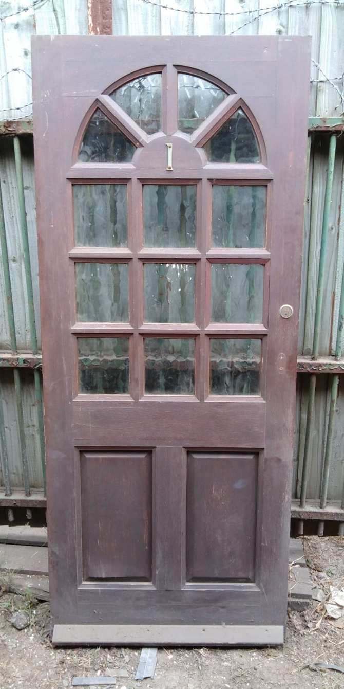 Reclaimed Half Glazed Front Door