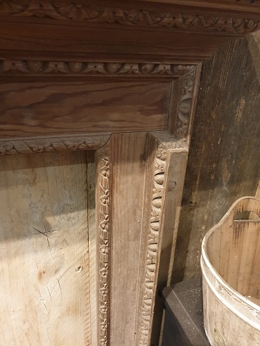 Original Carved Wooden Fire Surround