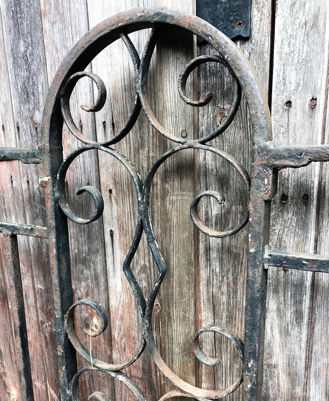 Reclaimed Wrought Iron Gate L: 101 x H: 127 cm SOLD