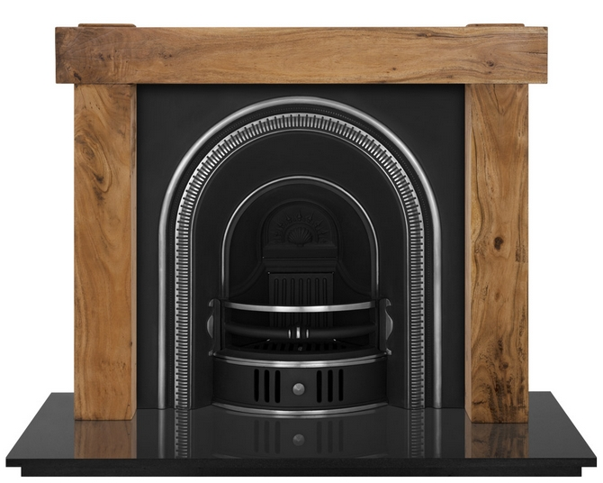 Beckingham Cast Iron Fireplace Insert Highlight Polished