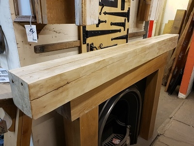 Reclaimed English Oak Beam Inglenook Fireplace