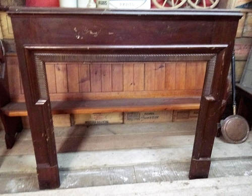 Original Antique Wooden Fire Surround