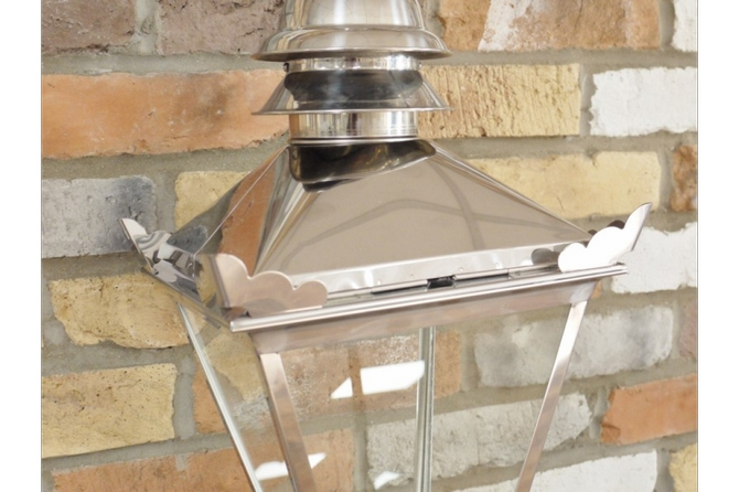Small Stainless Steel Victorian Style lamp top