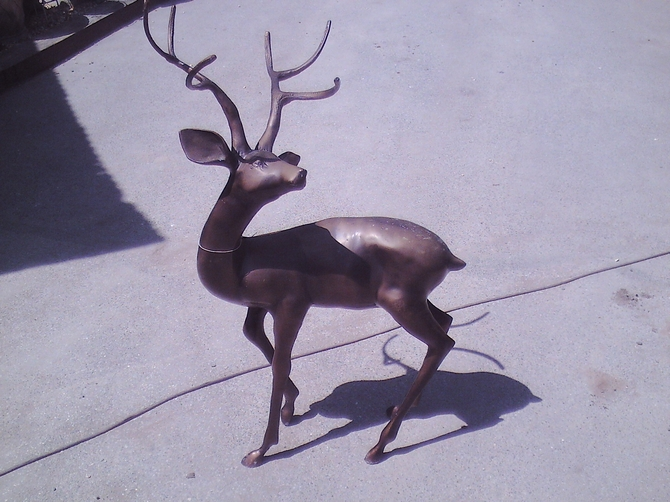 Bronze Style Deer Model