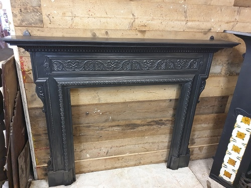 Large Decorative Original Cast Iron Surround