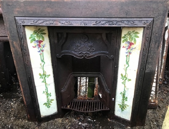 Original Decorative Cast Iron Tiled Insert