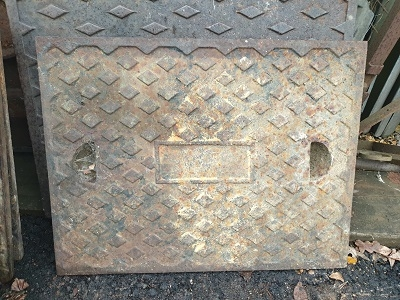Salvaged Cast Iron Manhole/Inspection Cover 665 x 520