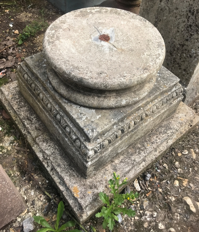 Reclaimed Stone Urn Plinth