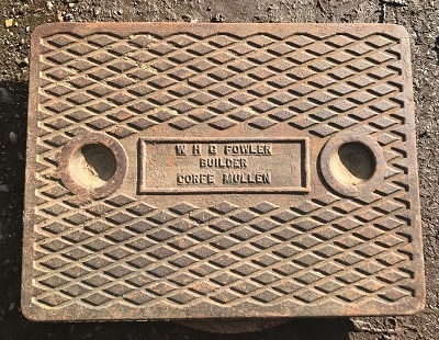 Salvaged Cast Iron Manhole/Inspection Cover 641 x 491