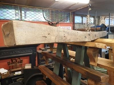Reclaimed English Oak Beam Inglenook Fireplace 1.82m