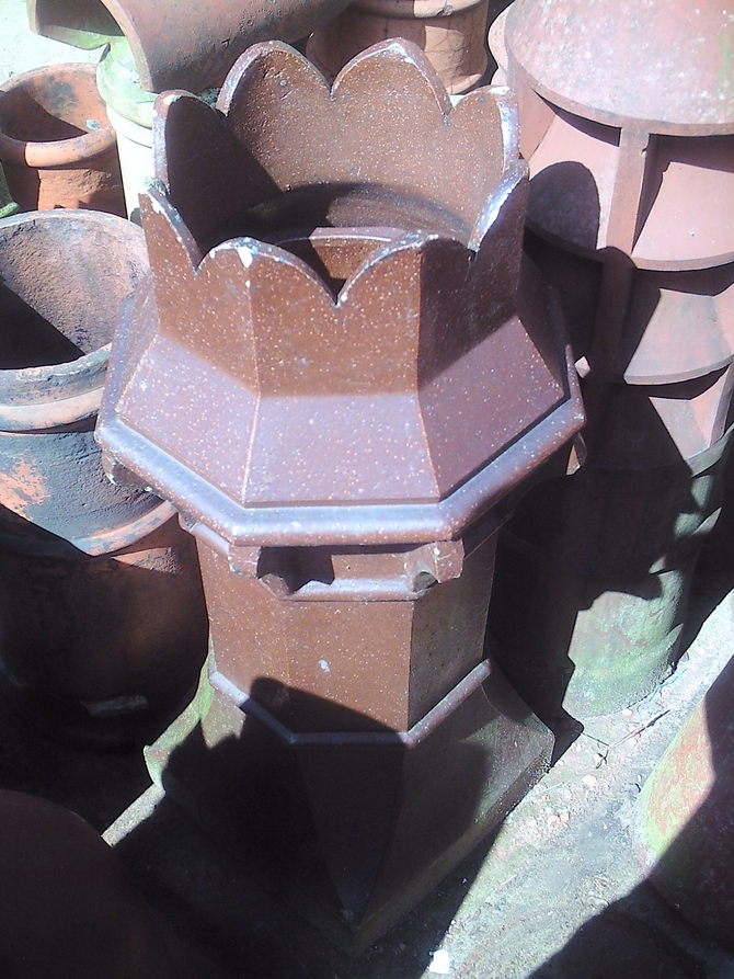 Glazed Octagon Crown Top Chimney Pot
