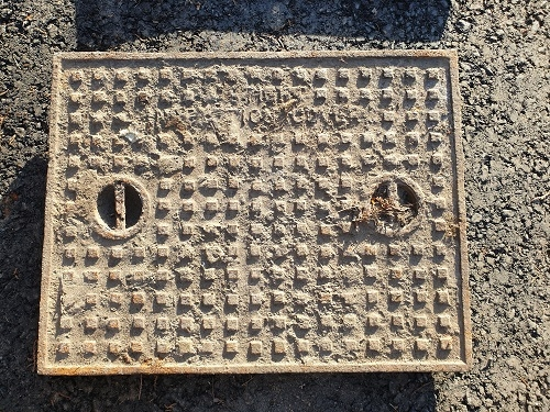 Salvaged Cast Iron Manhole/Inspection Cover 635 x 486