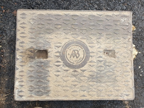 Salvaged Cast Iron Manhole/Inspection Cover 660 x 508mm
