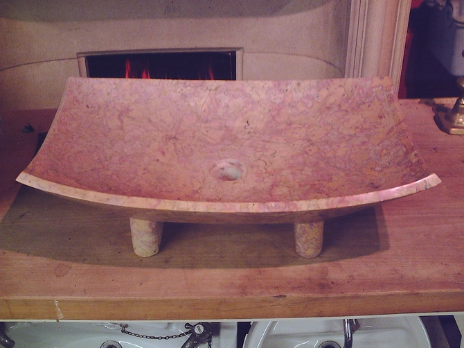Pink Marble Sink AR1010
