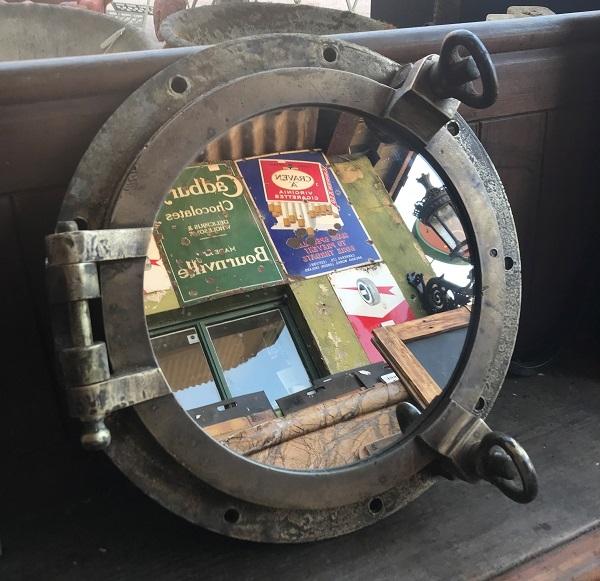 Original Two key Opening Porthole Mirror