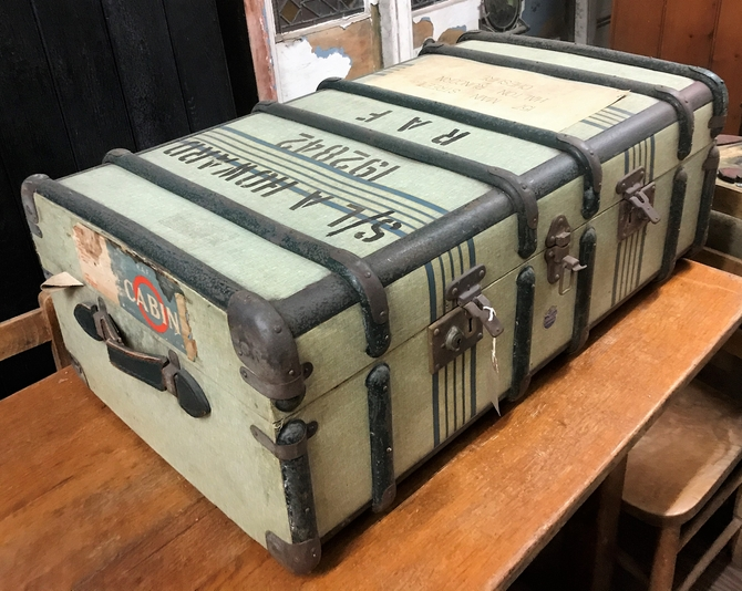 Vintage Steamer Trunk with