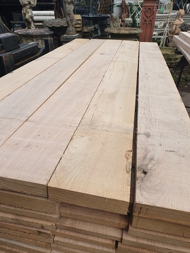 New Green Oak Planks 2.4m x 200 x 20-25mm