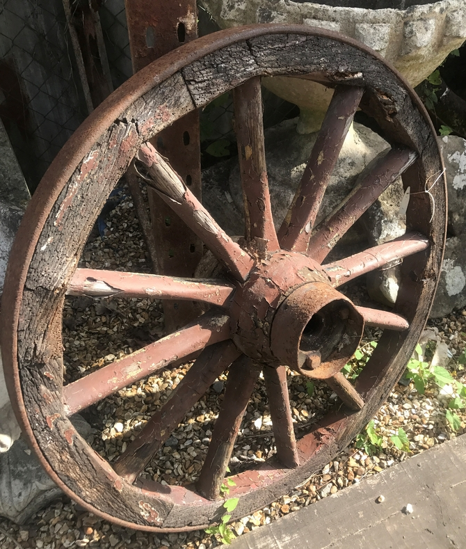 Reclaimed Wagon Wheel