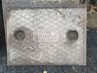 Salvaged Cast Iron Manhole/Inspection Cover 658 x 508