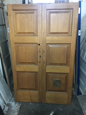 Pair of Solid Reclaimed Teak Doors SOLD