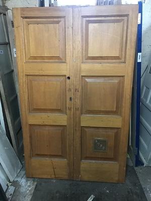 Pair of Solid Reclaimed Teak Doors