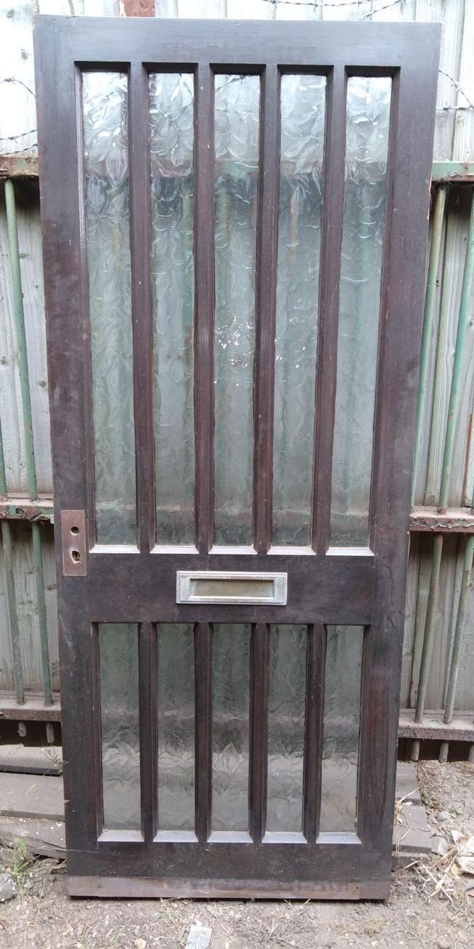 Reclaimed 10 Panel Glazed Front Door