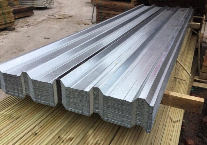 Box Profile Galvanised Roof Sheet 2.4m x 1m