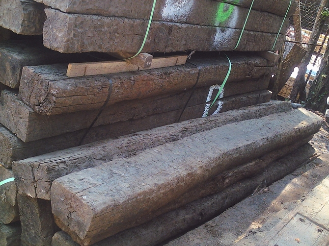 Reclaimed Rustic Railway Sleepers  Creosote Treated