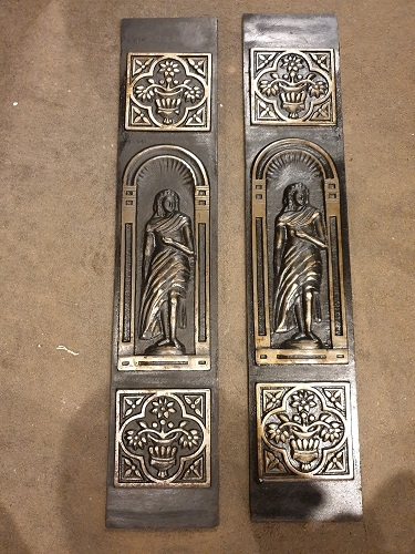 Pair of Reproduction Decorative Cast Iron Panels