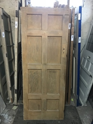 Reclaimed Stripped 8 Panel Door SOLD