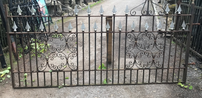 Decorative Reclaimed Wrought Iron Gate L: 243 x H: 125 cm