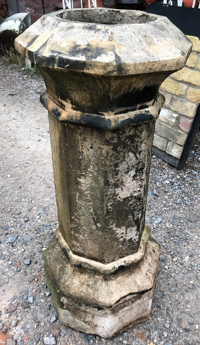Reclaimed Decorative Buff Octagonal Chimney Pot