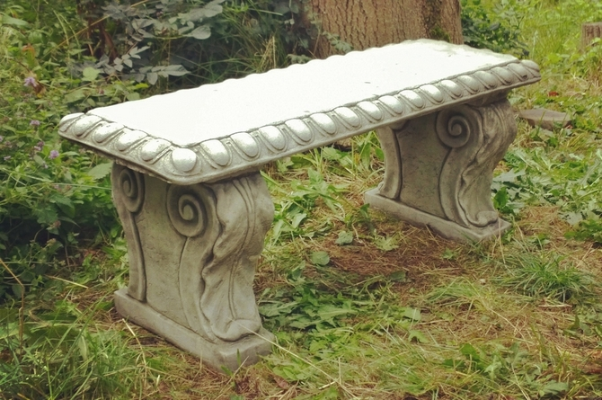 Victorian Style Stone Bench