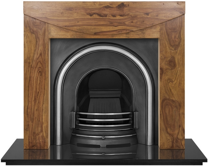 Celtic Arch Cast Iron Fireplace Insert by Carron