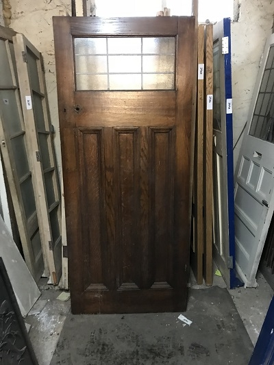 Reclaimed Glazed 1 over 3 Solid Oak Door