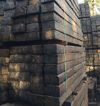 RECLAIMED RAILWAY SLEEPERS  - GRADE A WHOLE PACK SPECIAL