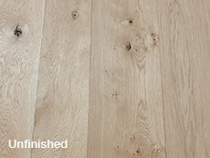 Traditional Solid Oak Floorboards Unfinished, Reversible 200mm