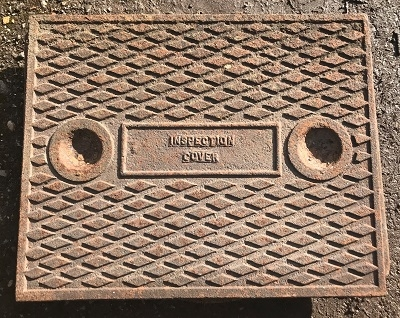 Salvaged Cast Iron Manhole/Inspection Cover 630 x 484