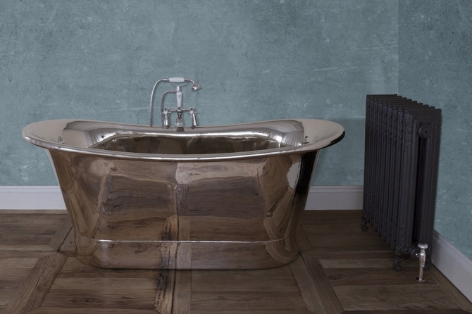 Normandy Copper Bath - Nickel Finish