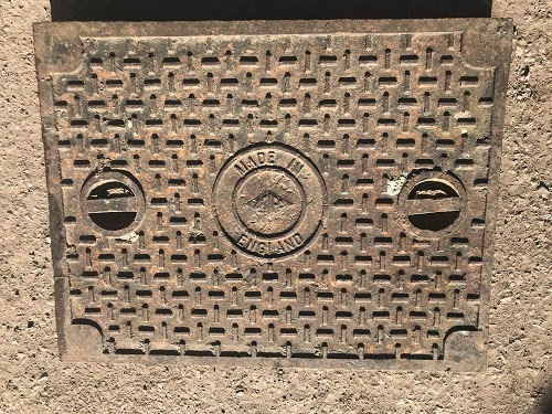 Salvaged Cast Iron Manhole/Inspection Cover 673 x 525