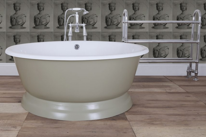 Drum Cast Iron Bath Tub