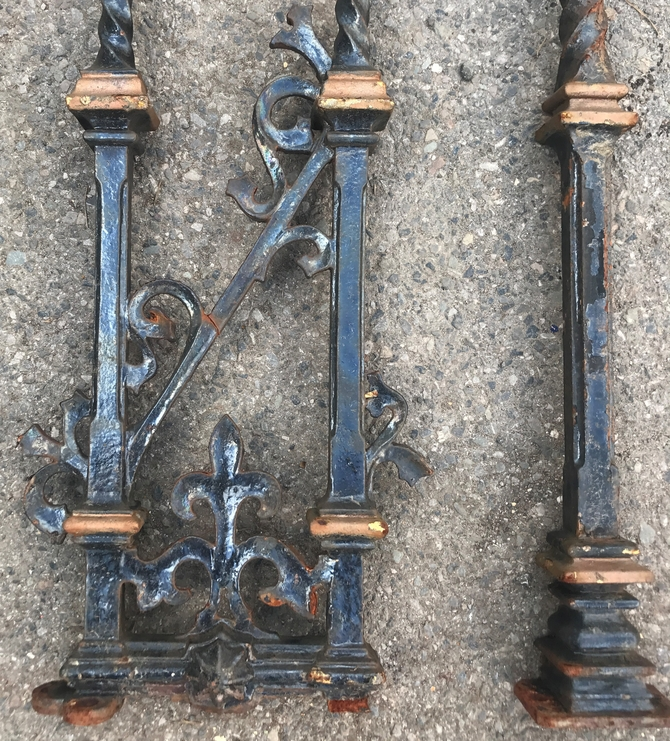 Reclaimed traditional cast iron balustrade