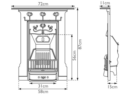 Abbot Cast Iron Combination Fireplace